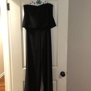 Do+Be black jumpsuit, Strapless